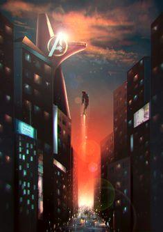 Iron Man Stark Tower iPhone Hintergrundbild marvel wallpaper - New Ideas Iron Man Avengers, Marvel Avengers, Ms Marvel, Marvel Comics, Hero Marvel, Marvel Art, Captain Marvel, Captain America, Iron Man Stark