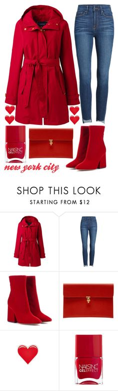 """""""breakfast in New York City"""" by j-n-a ❤ liked on Polyvore featuring Lands' End, Good American, Maison Margiela, Alexander McQueen, PINTRILL and Nails Inc."""