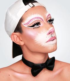 As if @jamescharles could get any cuter. Anyone else getting major Halloween inspo from this adorable bunny makeup featuring our #IconicLashes? We think so   Details: ____ Fur @makeupforeverofficial flash palette.  pink crease, nose, & lips are @toofaced melted matte liquid lipsticks in Miso Pretty & 1998.  Glow is @anastasiabeverlyhills Moon Child Glow Kit  liner is @morphebrushes gel liner in slate @houseoflashes Iconic Lashes.