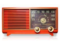 Vintage Radio- Philco Transitone in Atomic Orange
