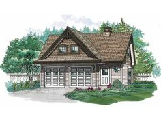 Eplans Garage Plan - Charming Two-Bedroom Apartment and Garage - 914 Square Feet and 2 Bedrooms from Eplans - House Plan Code HWEPL10992