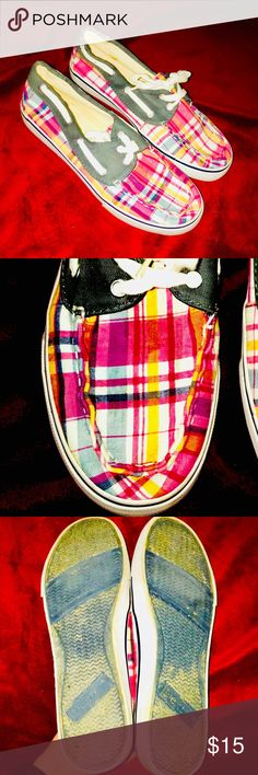 Plaid Dexter Shoes Size 7 Plaid Dexter Shoes Good Condition But Used No Signs Of Wear On Outside Bernie Dexter Shoes