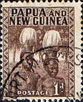 Papua New Guinea 1952 SG 2 Buka Headress Fine Mint SG 2 Scott 123 Other Papua New Guinea Stamps HERE