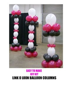 Linking Link O Loon Balloon Columns Wedding Party Birthday Christening Party | eBay