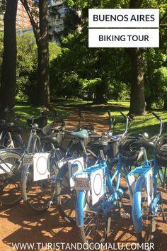 Como conhecer Buenos Aires fazendo um passeio de bicicleta. Argentina.