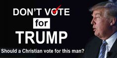 Read this article to see if you should vote for Trump or not ....