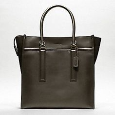 Legacy Leather Tote for men by Coach. Such a good looking bag.