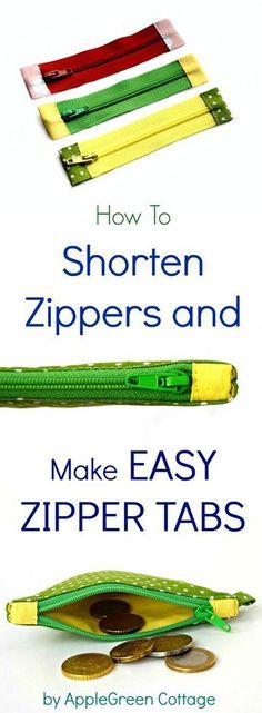 Make your homemade zipper bags look like pro using this easy zipper tip! Learn how to shorten a zipper and then sew fabric tabs to each end of the zipper to give it some more color and style. And you won't believe how easy it is!