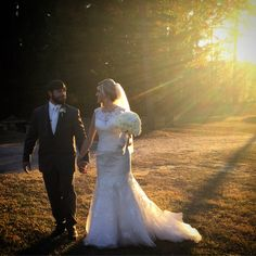 Happy Newlyweds at Pierce Castle in Decatur, Mississippi--Mississippi's Premiere Wedding and Event Venue.