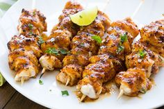 Chipotle Honey Chicken Skewers~ Toss on the grill and cook for just 10-12 minutes