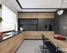 6 ideas for choosing or relooking your kitchen credenza - My Romodel Kitchen Room Design, Kitchen Cabinet Design, Modern Kitchen Design, Living Room Kitchen, Home Decor Kitchen, Interior Design Kitchen, Kitchen Furniture, New Kitchen, Home Kitchens