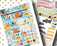 April Monthly View // Erin Condren Sticker // Printable Planner // Monthly Set and Kit // Discount Sale 2017 // Easter Stickers // April Fools Stickers // ECLP // PDF // JPG // PNG // Planner Girl // Planner Junkie // Planner Love // Planner Addict