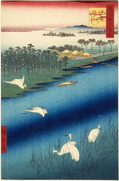 #Japanese blue, Hiroshige Blue, Utagawa hiroshige