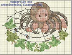 creaciones FOG: colección bebés disfrazados punto de cruz: araña