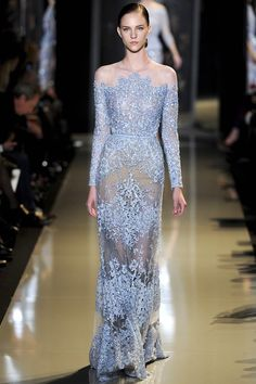 Rhinestone Wedding Ideas - Ellie Saab SS 2013 Couture