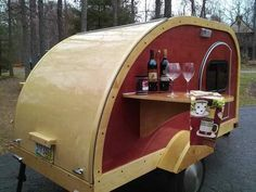 NOTE ALL WOOD! custom woody teardrop camper for sale 001 Custom Built 2014 Woody Teardrop Camper for sale