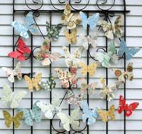 How to make these sweet butterflies using vintage upcycled papers.