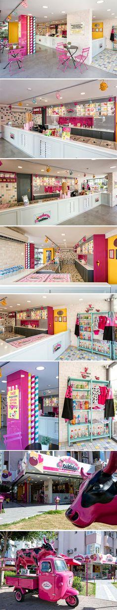 Dondurma Dükkanı Ice-cream Shop by Kst Architecture & Interiors, Antalya – Turkey.