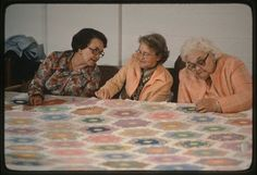 Quilting gals stitching and chatting!