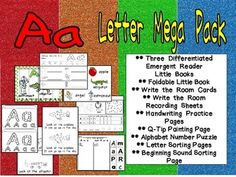This packet has everything you need to teach the letter Aa in your preschool or kindergarten classroom!! This packet includes 3 differentiated emergent reader little books, a foldable little book, a write the room activity, handwriting practice pages, a Q-tip painting page, an alphabet number puzzle, and sorting pages :)
