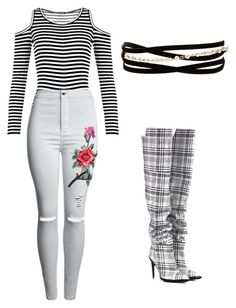 """""""Grey"""" by rand0mgirl1230 on Polyvore featuring WearAll, Kenneth Jay Lane and Off-White"""