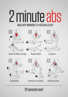 2 min abs workout