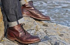 Red Wing Beckman (rugged, comfortable, and supports the ankle)