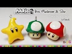 MARIO BROS Mushroom & Star polymer Clay tutorial / hongo y estrella de M...