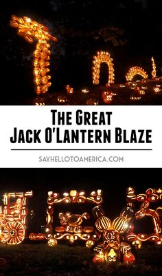 The Great Jack O'Lantern Blaze is a fun family-friendly Halloween experience in Sleepy Hollow, New York. Click for more photos or pin for later!
