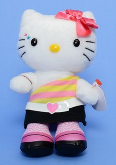 Retro Hello Kitty - Cat - Ty Beanie Babies