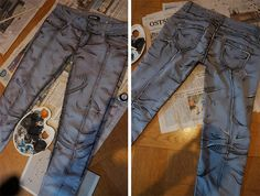 Become an anime babe with amazing DIY jeans from Borderlands: The Pre-Sequel Costume Tutorial, Cosplay Tutorial, Cosplay Diy, Anime Cosplay, Cosplay Ideas, Diy Costumes, Cosplay Costumes, Costume Ideas, Costume Box