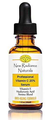 GUARANTEED Best Results 20% Vitamin C Serum For Face - Best Natural & Organic Anti-Aging Ingredients - With 11% Botanical Hyaluronic Acid + E + Ferulic + MSM + Organic Aloe - Fades Wrinkles, Freckles, Acne Scars, Discoloration and Age Spots - Stimulates Collagen, Repairs Sun Damage and Restores Youthful Skin Radiance! Great For Hands Also! New Radiance Naturals http://www.amazon.com/dp/B00KYW8CY0/ref=cm_sw_r_pi_dp_JH5tub0Q1D376