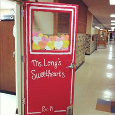 Classroom door decoration: Conversation Hearts Box