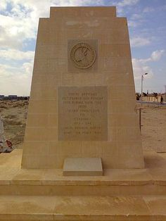 This memorial is dedicated to the soldiers of the South African Infantry Division who fell during the battles of El Alamein in North African Campaign, Military Cemetery, Military History, Military Art, African History, American Civil War, World War Two, Wwii, South Africa