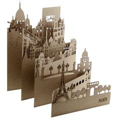 Image result for kirigami paris tri-fold template