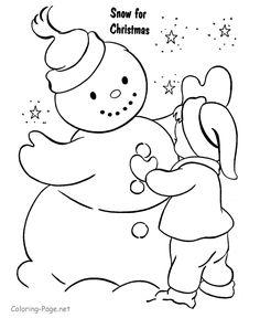 Christmas Coloring Pages | Christmas Coloring Pages - Making Snowman