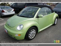 Cyber Green Metallic 2004 Volkswagen New Beetle GLS Convertible ... Couldn't fit the baby's car seat in it...