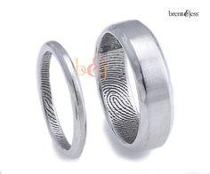 2.5 mm/6 mm festlegen Sterlingsilber Custom Fingerabdruck