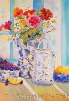 Abilene Antiques Watercolor Fruit, Watercolor Artwork, Watercolor And Ink, Watercolor Flowers, Watercolor Projects, Art For Art Sake, Pretty Art, Art World, Art Images
