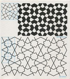 Pantern in islamisk art - GPB 019 : Geometric Patterns & Borders, David Wade