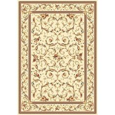 Lyndhurst Ivory 5 ft. 3 in. x 7 ft. 6 in. Area Rug