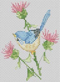 Маленькая птичка на чертополохе. дизайнер: Алиса Окнеас