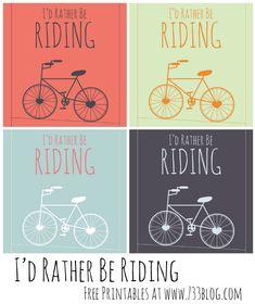 seven thirty three - - - a creative blog: Biking is a Passion {Free Printables}