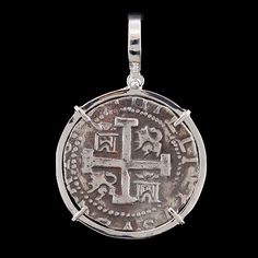 Atocha Jewelry - 8 Reale Silver Coin Pendant w/Sterling Silver Frame from Virtual Treasure Chest