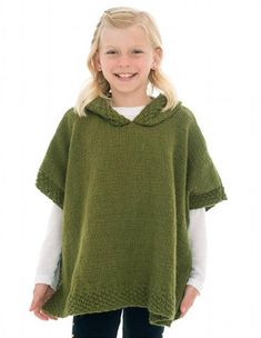 Free knitting pattern for hooded poncho knitting pinterest girls poncho knitting pattern dt1010fo