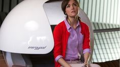 Rose Byrne The Internship. Lavender shirt with red sweater