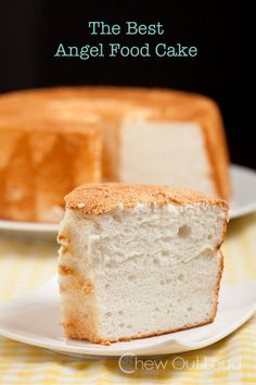 The Best Ever Angel Food Cake - 200% better than any store bought ones.  Pillowy soft, fluffy, tender, and SO flavorful.