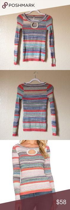 Free People Sunshine Daydream Multicolor Sweater Free People Sunshine Daydream sweater, in like new condition, size XS. I accept reasonable offers!  Free People Sweaters Crew & Scoop Necks