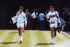 The rivalry of the 1983 - Ivan Lendl and John McEnroe. My Dad was passionate for McEnroe. I was devoted to Lendl. We would get into screaming matches while watching them play. Kim Clijsters, Jimmy Connors, Atp Tennis, Tennis Legends, Wimbledon Tennis, Ana Ivanovic, Vintage Tennis, Tennis Championships, Tennis Stars
