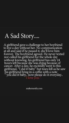 A sad story :(